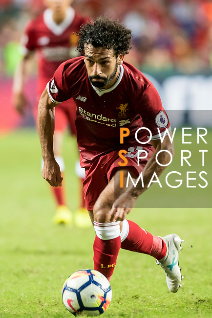 Liverpool FC forward Mohamed Salah in action during the Premier League Asia Trophy match between Liverpool FC and Leicester City FC at Hong Kong Stadium on 22 July 2017, in Hong Kong, China. Photo by Weixiang Lim / Power Sport Images