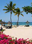 MUS, Mauritius, Black River, Flic en Flac: Strand des Sofitel Imperial Hotels    MUS, Mauritius, Black River, Flic en Flac: beach at Sofitel Imperial Hotel
