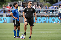 SAN JOSE, CA - AUGUST 13: Guido Bonini Assistant Coach of the San Jose Earthquakes before a game between San Jose Earthquakes and Vancouver Whitecaps at PayPal Park on August 13, 2021 in San Jose, California.