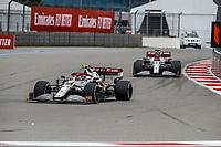 26th September 2021; Sochi, Russia; F1 Grand Prix of Russia, Race Day:  99 GIOVINAZZI Antonio ita, Alfa Romeo Racing ORLEN C41 and 07 RAIKKONEN Kimi fin, Alfa Romeo Racing ORLEN C41