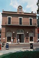 New Orleans:  409 Royal St.  Originally Louisiana State Bank, 1820. Architect Benjamin  M. Latrobe. National Historic Landmark 1983.