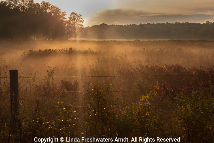 The sun's rays warming a farmer's field in northern Wisconsin.
