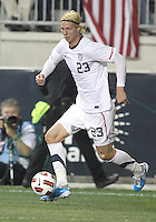 Brek Shea #23 of the USA MNT during an international friendly match against Colombia at PPL Park, on October 12 2010 in Chester, PA. The game ended in a 0-0 tie.