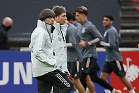 Bundestrainer Joachim Loew (Deutschland Germany) und Co-Trainer Marcus Sorg (Deutschland Germany) beobachten das Training <br /> - 05.10.2020: Training der Deutschen Nationalmannschaft, Suedstadion Koeln<br /> DISCLAIMER: DFB regulations prohibit any use of photographs as image sequences and/or quasi-video.