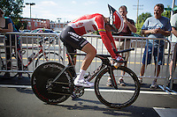 Tony Gallopin (FRA/Lotto-Soudal) after the TTT<br /> <br /> Elite Men's Team Time Trial<br /> UCI Road World Championships Richmond 2015 / USA