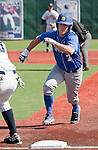 March 10, 2012:   Nevada Wolf Pack Joe Kohan heads back into first on a pick-off play against the UC Santa Barbara Gauchos during their NCAA baseball game played at Peccole Park on Saturday afternoon in Reno, Nevada.