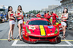 Pit girls with #3 Ferrari 488 GT3, driven by Rino Mastronardi, Alex Riberas and Olivier Beretta of DH Racing, prior to the 2016-2017 Asian Le Mans Series Round 1 at Zhuhai Circuit on 30 October 2016, Zhuhai, China.  Photo by Marcio Machado / Power Sport Images