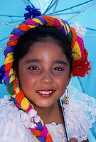 Spanish young girl in flamengo dance costume holding an umbrella foto, reise, photograph, image, images, photo,<br />