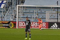 ST PAUL, MN - NOVEMBER 4: Brent Kallman #14 of Minnesota United FC stands during a game between Chicago Fire and Minnesota United FC at Allianz Field on November 4, 2020 in St Paul, Minnesota.