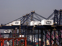 The HIT container terminal in Hong Kong..05 Nov 2007