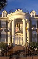 AJ1588, South Carolina, Charleston, mansion, Historic brick house in Charleston, South Carolina.