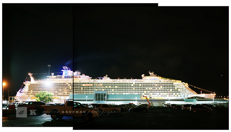 Royal Caribbean Classic's Oasis of the Seas is the World's Largest Cruise Ship. Oasis of the Seas is the largest and most revolutionary cruise ship in the world. An architectural marvel at sea, she spans 16 decks, encompasses 225,282 gross registered tons, carries 5,400 guests at double occupancy, and features 2,700 staterooms. Oasis of the Seas is the first ship to tout the cruise line's new neighborhood concept of seven distinct themed areas, which includes Central Park, Boardwalk, the Royal Promenade, the Pool and Sports Zone, Vitality at Sea Spa and Fitness Center, Entertainment Place and Youth Zone. The ship will sail from her home port of Port Everglades in Fort Lauderdale, Fla.