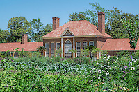 Upper Garden and greenhouse, Mt Vernon, Virginia, USA
