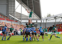 27th March 2021; Brentford Community Stadium, London, England; Gallagher Premiership Rugby, London Irish versus Bath;  Rob Simmons of London Irish catches the ball from the line out