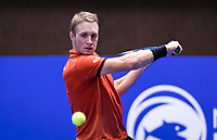 Alphen aan den Rijn, Netherlands, December 16, 2018, Tennispark Nieuwe Sloot, Ned. Loterij NK Tennis, Final men: Jelle Sels (NED)<br /> Photo: Tennisimages/Henk Koster