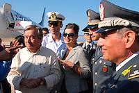 Lampedusa / Italy - 19 June 2011<br /> Laura Boldrini con l'Alto Commissario delle Nazioni Unite per i Rifugiati Antonio Guterres, in visita a Lampedusa per monitorare la condizione dei migranti ospitati nel CIE.<br /> Photo Livio Senigalliesi