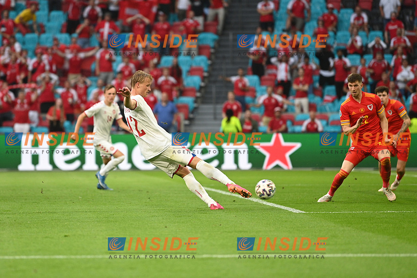 AMSTERDAM, NETHERLANDS - JUNE 26:  during the UEFA Euro 2020 Championship Round of 16 match between Wales and Denmark at Johan Cruijff Arena on June 26, 2021 in Amsterdam, Netherlands. (Photo by Lukas Schulze - UEFA/UEFA via Getty Images)<br /> Photo Uefa/Insidefoto ITA ONLY