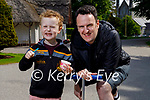 Jack Rosney enjoying his ice cream with his dad Martyn Rosney in the Killarney National Park on Sunday.