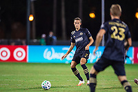 LAKE BUENA VISTA, FL - JULY 20: Jack Elliot #3 of the Philadelphia Union passes the ball during a game between Orlando City SC and Philadelphia Union at Wide World of Sports on July 20, 2020 in Lake Buena Vista, Florida.