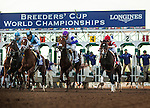 ARCADIA, CA - NOV 4: The field for the Breeders' Cup Distaff breaks from the gate at Santa Anita Park on November 4, 2016 in Arcadia, California. (Photo by Alex Evers/Eclipse Sportswire/Breeders Cup)