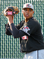 29 May 2007: Photo of the Hickory Crawdads, Class A South Atlantic League affiliate of the Pittsburgh Pirates, in a game against the Greenville Drive at West End Field in Greenville, S.C. Photo by:  Tom Priddy/Four Seam Images