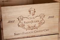 Clos Saint Julien, Saint Emilion, Bordeaux, France