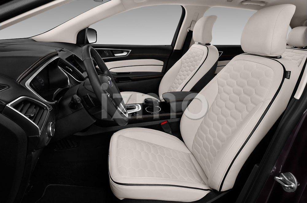 Front seat view of a 2017 Ford Edge Vignale base 5 Door SUV front seat car photos