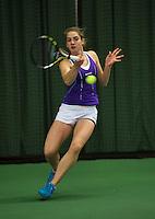 Rotterdam, The Netherlands, 07.03.2014. NOJK ,National Indoor Juniors Championships of 2014, Isolde de Jong (NED)<br /> Photo:Tennisimages/Henk Koster