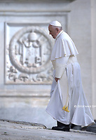 Pope Francis during of a weekly general audience at St Peter's square in Vatican, Wednesday.September 25, 2019