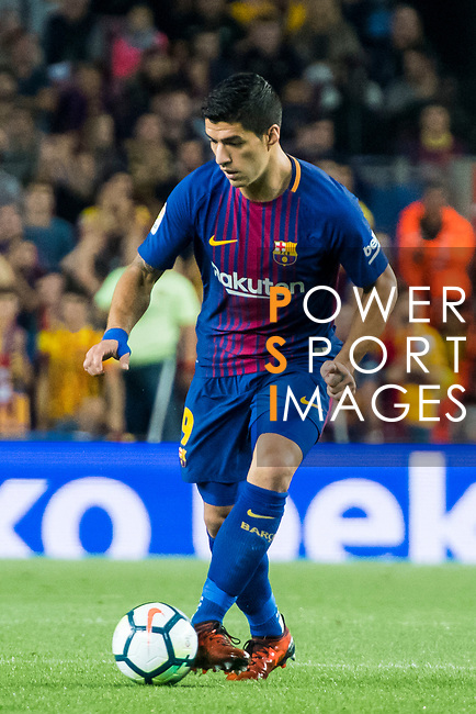Luis Alberto Suarez Diaz of FC Barcelona in action during the La Liga 2017-18 match between FC Barcelona and Malaga CF at Camp Nou on 21 October 2017 in Barcelona, Spain. Photo by Vicens Gimenez / Power Sport Images