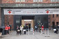 """Corona-Impfzentrum Berlin in der """"Arena"""" in Berlin-Treptow.<br /> 15.3.2021, Berlin<br /> Copyright: Christian-Ditsch.de"""