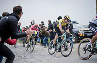 Even after a mechanical in the Arenberg Forest AND a crash in the pursuit that followed, Wout Van Aert (BEL/Jumbo-Visma) regains contact with the race leaders<br /> <br /> 117th Paris-Roubaix 2019 (1.UWT)<br /> One day race from Compiègne to Roubaix (FRA/257km)<br /> <br /> ©kramon