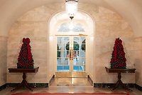 The Center Hall of the White House is decorated for the holiday season Monday, Nov. 26, 2018. (Official White House Photo by Andrea Hanks)