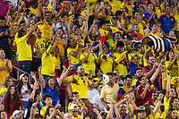 Tampa, FL - Thursday, October 11, 2018: Colombian fans during a USMNT match against Colombia.  Colombia defeated the USMNT 4-2.
