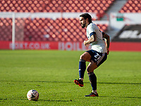 9th January 2021; City Ground, Nottinghamshire, Midlands, England; English FA Cup Football, Nottingham Forest versus Cardiff City; Marlon Pack of Cardiff City passing the ball forward