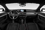 Stock photo of straight dashboard view of 2020 BMW X2 M-Sport-X 5 Door SUV Dashboard