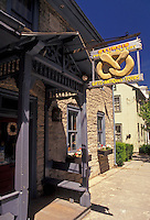 AJ2740, pretzels, Pennsylvania, Pennsylvania Dutch Country, Sturgis Pretzel House (the first pretzel bakery in the USA) in the town of Lititz in the state of Pennsylvania.