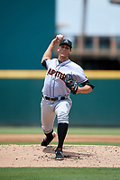 Jupiter Hammerheads relief pitcher Parker Bugg (29) delivers a pitch during the first game of a doubleheader against the Bradenton Marauders on May 27, 2018 at LECOM Park in Bradenton, Florida.  Bradenton defeated Jupiter 13-5.  (Mike Janes/Four Seam Images)