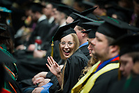 Victoria Hill, ELEE BS, during the UAA Spring 2018 Commencement at the Alaska Airlines Center.