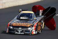 Jul. 20, 2013; Morrison, CO, USA: NHRA funny car driver Tony Pedregon during qualifying for the Mile High Nationals at Bandimere Speedway. Mandatory Credit: Mark J. Rebilas-