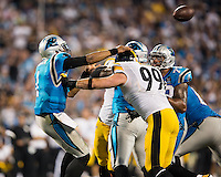 Charlotte, NC, - Sunday, September 21, 2014: The Carolina Panthers lost to the Pittsburgh Steelers 37-19 in a NFL game at Bank of America Stadium.