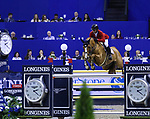 OMAHA, NEBRASKA - APR 2: Todd Minikus rides Babalou during the Longines FEI World Cup Jumping Final at the CenturyLink Center on April 2, 2017 in Omaha, Nebraska. (Photo by Taylor Pence/Eclipse Sportswire/Getty Images)