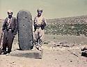 Iraq 1982 .Right, Akram Agha  with a peshmerga  in Qalachin , on the border of Iran .Irak 1982 .Akram Agha avec un peshmerga a Qalachin sur la frontiere iranienne