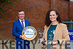 Mary Thea Brosnan Kerry Kefir Castleisland who won Gold and Best Start Up at the Blas na hEireann awards with Hugh Glesson manager of BAnk Of Ireland Killarney branch on Monday