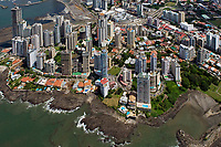 aerial photograph of Punta Patilla residential high rise towers, Panama City, Panama, the Megapolis Outlets Panama in the center background | fotografía aérea de las torres residenciales de gran altura de Punta Patilla, Panamá