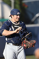 Jimmy Sinatro (20) of the Gonzaga Bulldogs before a game against the Loyola Marymount Lions at Page Stadium on March 27, 2015 in Los Angeles, California. Loyola Marymount defeated Gonzaga 6-5.(Larry Goren/Four Seam Images)