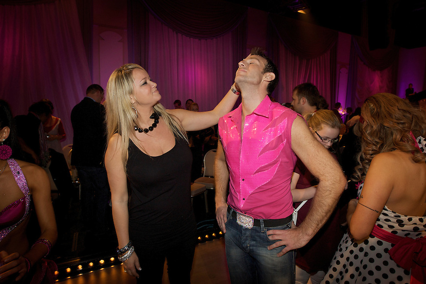 Oslo, 20091017. Skal vi danse. Carsten Skjelbreid med kjæresten Tonje Wøllo