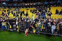 Dane Coles with fans after the Super Rugby Aotearoa match between the Hurricanes and Chiefs at Sky Stadium in Wellington, New Zealand on Saturday, 8 August 2020. Photo: Dave Lintott / lintottphoto.co.nz