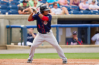 Adrian Sanchez #6 of the Hagerstown Suns at bat against the Rome Braves at State Mutual Stadium on May 1, 2011 in Rome, Georgia.   Photo by Brian Westerholt / Four Seam Images