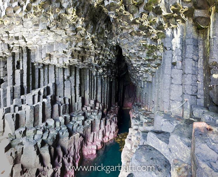 Fingal's Cave, Isle of Staffa, off the Isle of Mull, Scotland.